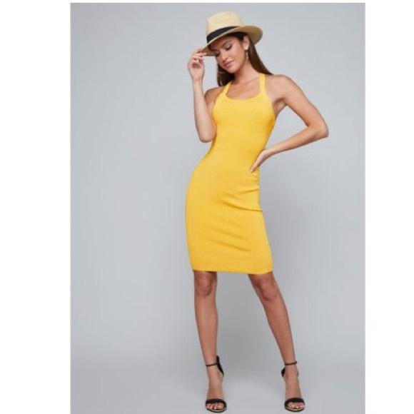 bebe Dresses & Skirts - Bebe strappy back ribbed dress